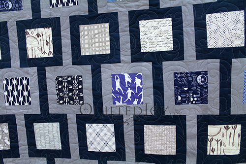 Navy Quilt for a Boy