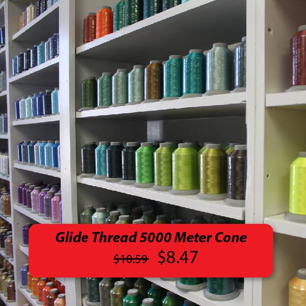 Glide thread 5000 meter cone