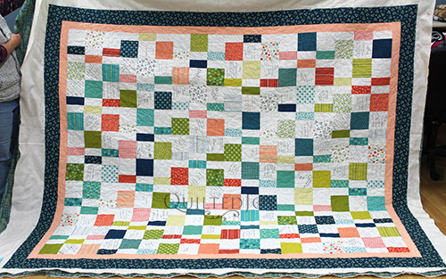 Wedding Quilt with Signatures and Messages of Love