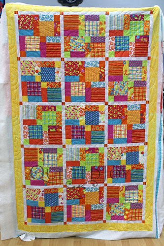 Colorful Throw Quilt