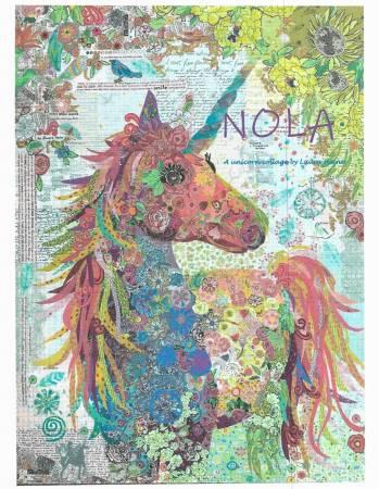 Nola Unicorn Collage Quilt Pattern by Laura Heine