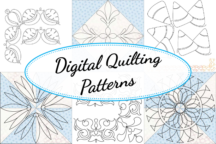 Digital Quilting Patterns available at QuiltedJoy.com