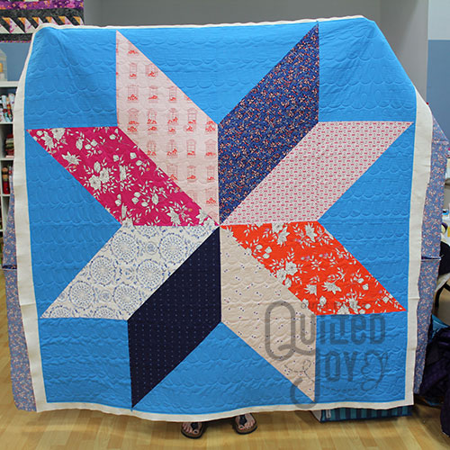XL Star Quilt after longarm quilting
