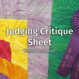 Judging Critique Sheet Free Download