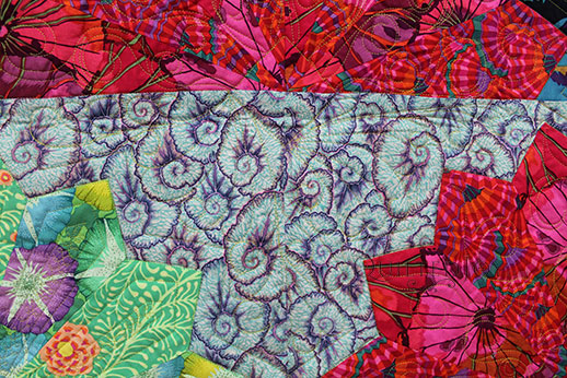 Fan Dance Quilt, quilted by Angela Huffman Quilted Joy