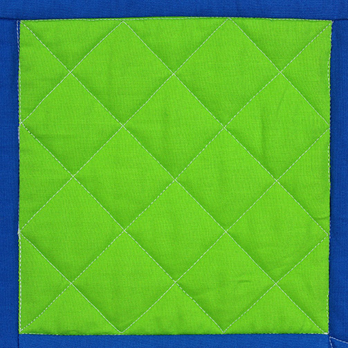 Crosshatching quilt design