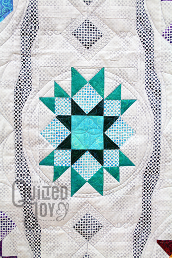 Jodi's Festival of Stars Quilt, Longarm Quilting by Angela Huffman of Quilted Joy