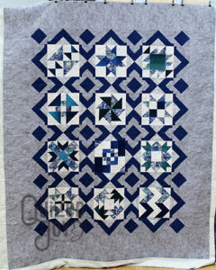 Mary Jo's modern sampler quilt, quilting by Angela Huffman