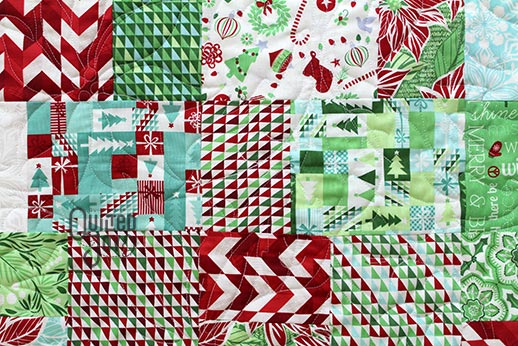 Tabatha's Modern Christmas Quilt, quilted by Angela Huffman of Quilted Joy