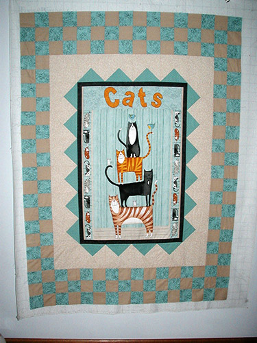 Gail's Cats Panel Quilt
