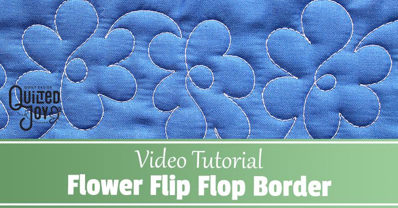 Video Tutorial Flower Flip Flop Border
