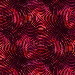 "Red Tones Ombre Circles 108"" Wide"