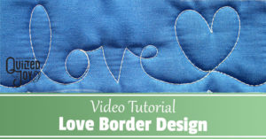 """Video Tutorial Love Border Design"""