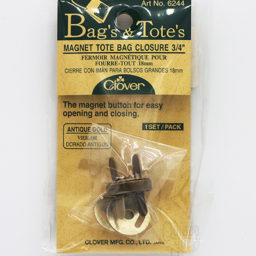 Magnetic Bag Clasp Antique Gold