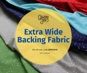 Quilted Joy Extra Wide Backing Fabric 10% off with Code SPRING10 April 1-3, 2020 only