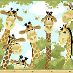 Zoe The Giraffe Fabric Panel